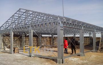 Фермы из ЛСТК (Строительство навеса) 1