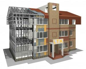Модель здания из ЛСТК