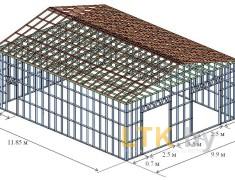 Проект СТО, 3Д-модель каркаса