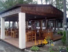 Навес летнего кафе Хуторок— 012