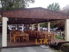 Навес летнего кафе Хуторок— 017